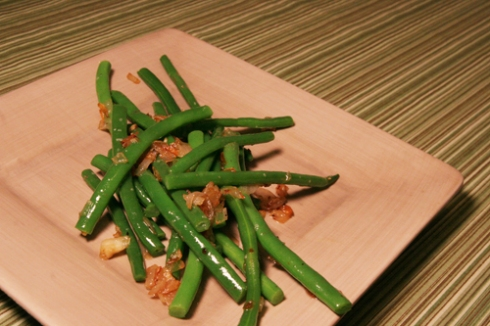 green beans w. shallots