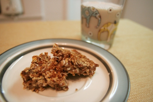 banana-oat bars