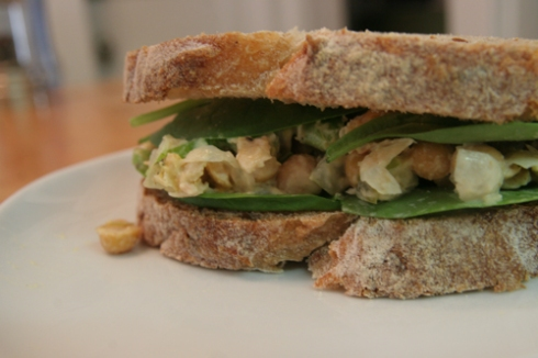 veg chicken salad sandwich