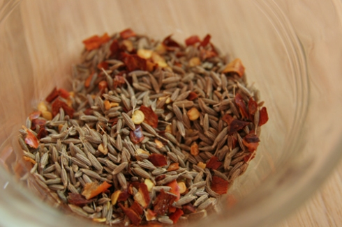 cumin seed & red pepper