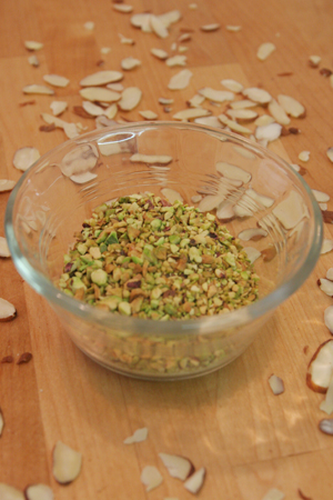 pistachios & almonds