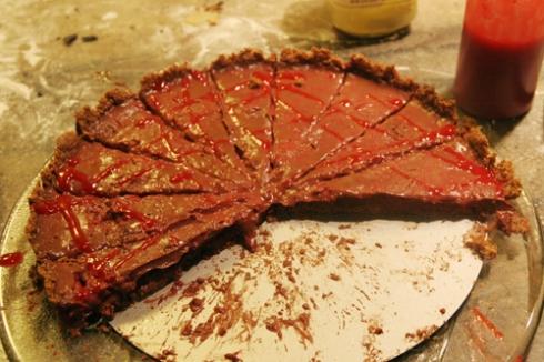 half-eaten tart